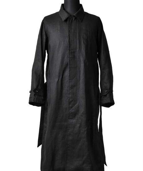 Bennu (ヴェンヌ)110531101 / Hemp Cold Merce Buck Embroidery Stain Color Coat