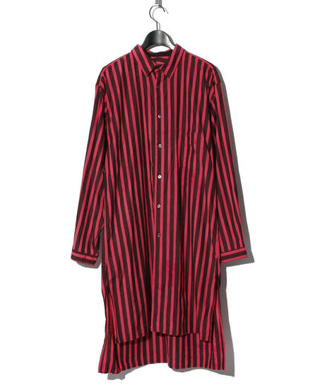 ys Yuji SUGENO (イース ユウジ スゲノ)  220230402 / Back print striped long shirt-RED