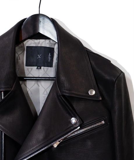 ys Yuji SUGENO (イース ユウジ スゲノ) 21045902A / Calfskin Belted Double Riders Jacket