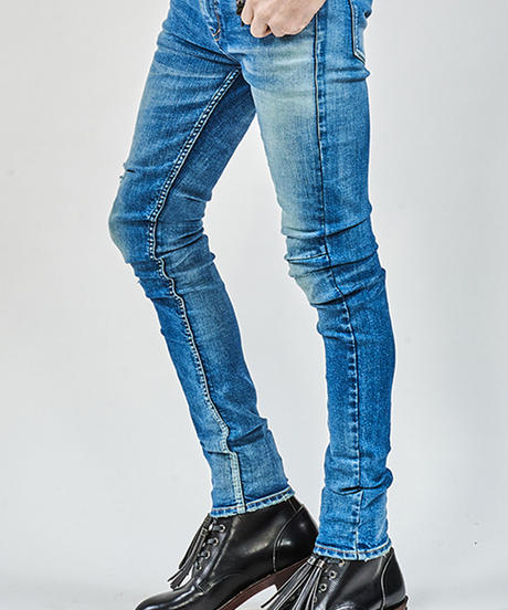 ys Yuji SUGENO (イース ユウジ スゲノ)  210340503-INDIGO / Hybrid Stretch USED Skinny Denim Pants