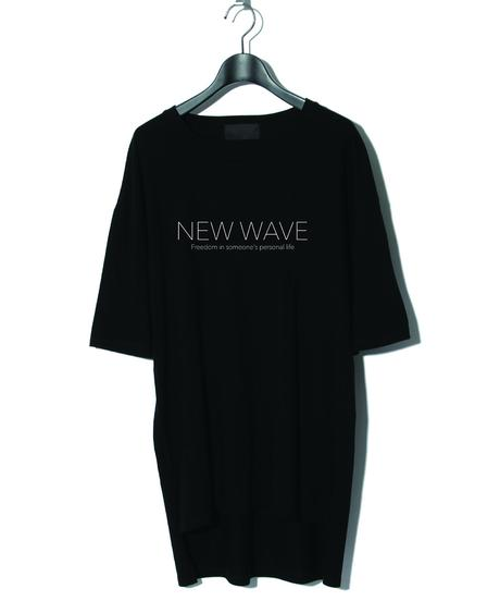 ys Yuji SUGENO (イース ユウジ スゲノ)  210410101 / NEW WAVE Hemstep Big Tee-BLACK
