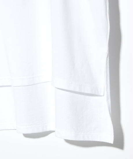 ys Yuji SUGENO (イース ユウジ スゲノ)  220210106 / Hemstep Big T / BLACK -WHITE