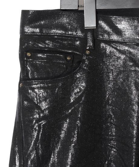 ys Yuji SUGENO (イース ユウジ スゲノ) 210840503-BLACK / Black foil Stretch denim 5P Skinny Denim