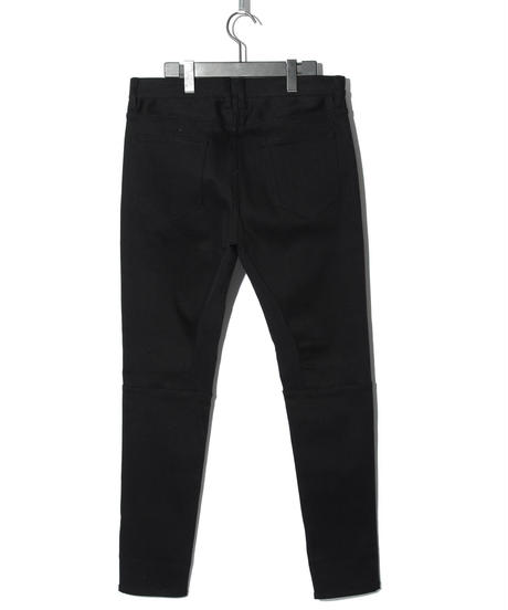 ys Yuji SUGENO (イース ユウジ スゲノ)  210240502 / Stretch denim high tension 5P Saruel PT - BLACK