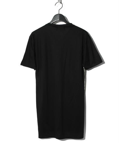 ys Yuji SUGENO (イース ユウジ スゲノ)  220210112 / Foil Print Changing V-neck T-BLACK