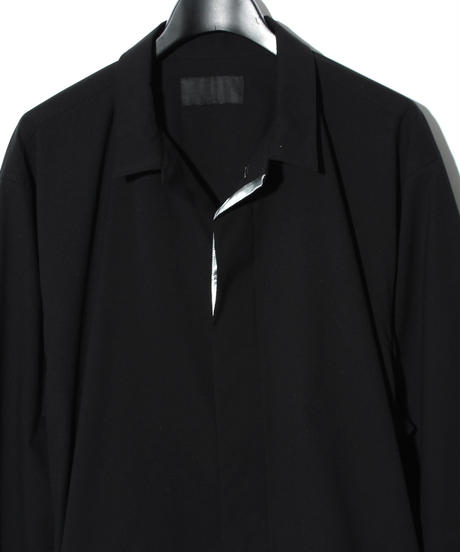 ys Yuji SUGENO (イース ユウジ スゲノ)  220231101 / Solotex Bal collar shirt-BLACK