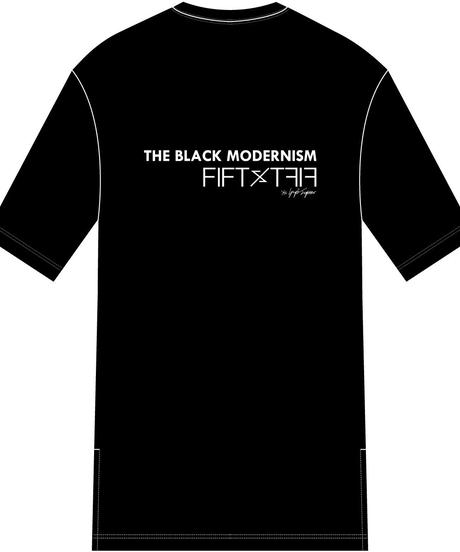"FIFTY FIFTY (フィフティフィフティ)220110103 / ""清春"" Special Session Print Hem Step Big Tee-BLACK"