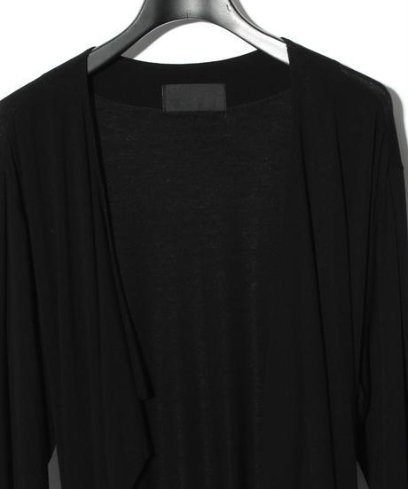 ys Yuji SUGENO (イース ユウジ スゲノ)  220210301 / Outlast Wrap Long Gown-BLACK