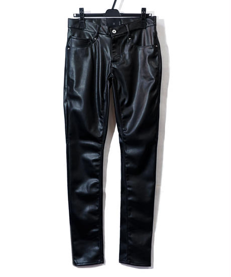 ys Yuji SUGENO (イース ユウジ スゲノ)  210340507-BLACK / Synthetic Lamb Leather Skinny pants