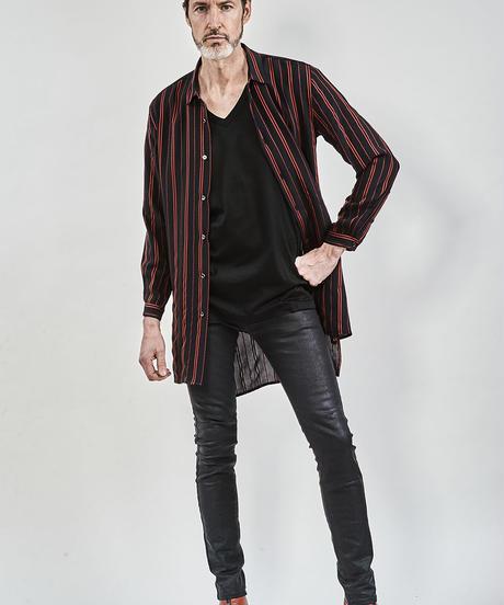 ys Yuji SUGENO (イース ユウジ スゲノ)  210340506-BLACK / PU coating processing twin power skinny denim pants