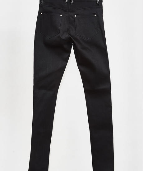 ys Yuji SUGENO (イース ユウジ スゲノ)  210340504-BLACK / Enamel changing stretch skinny denim pants