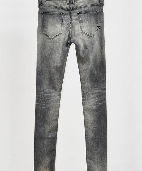ys Yuji SUGENO (イース ユウジ スゲノ)  210340503-GRAY / Hybrid Stretch USED Skinny Denim Pants