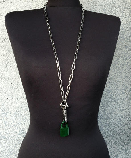 Green Padlock Necklace