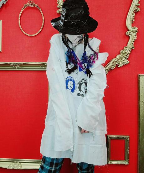【Magdala】Gauze-4Queen-Shirt(wh)