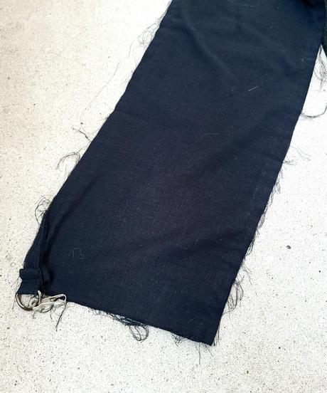 【Magdala】Gauze Sleeve Long T-shirt (blk2)