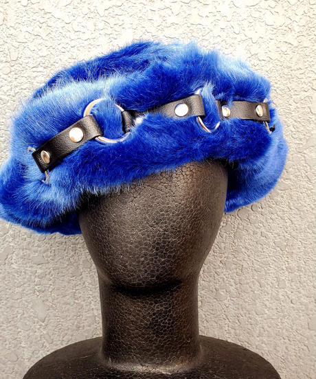 【ARTRICK×ニュリカデリック】Fur Harness Hat (blue)