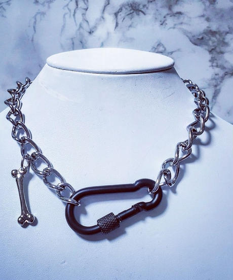 Mad Black×Silver Necklace