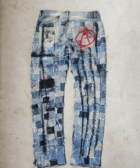-逆走芸術-Paint Crust Pants(denim)