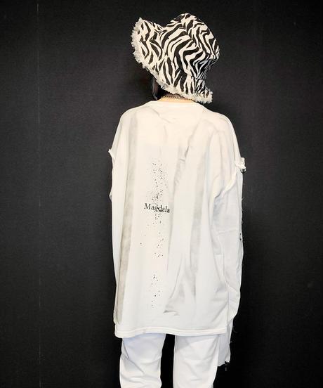 【Magdala】Gauze Sleeve Long T-shirt (wh2)