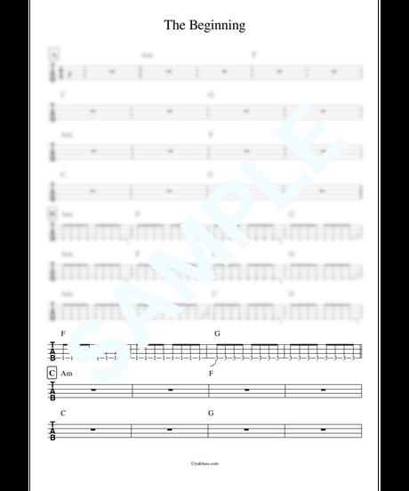 The Beginning / ONE OK ROCK【ベース・タブ譜】