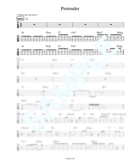 Pretender / Official髭男dism【ベース・タブ譜】