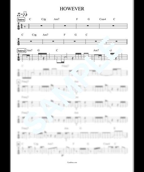 HOWEVER / GLAY【ベース・タブ譜】