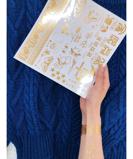 青葉市子×YUKI FUJISAWA 金箔タトゥーシール