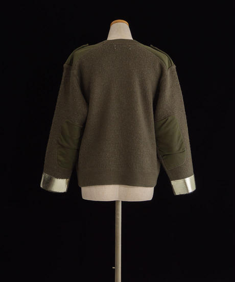 Patches knit OLIVE / 04069
