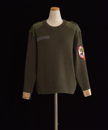 Patches knit OLIVE / 04066
