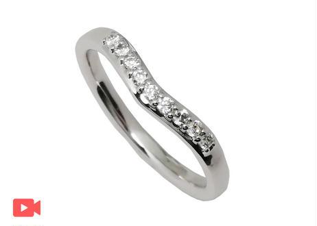 【単品】V字指輪 II(1MOBR-8L)プラチナ(pt950)石留あり
