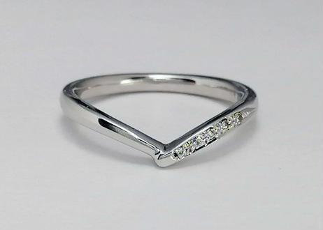 ハート指輪  -チムグクル-(1MOBR-11)プラチナ(pt950)– ペアリング –