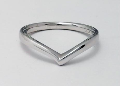 【単品】 ハート指輪 -チムグクル-(1MOBR-11M)プラチナ(pt950)石なし
