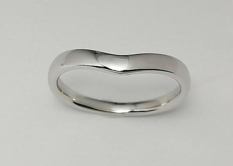 【単品】V字指輪 II(1MOBR-8M)プラチナ(pt950)石なし