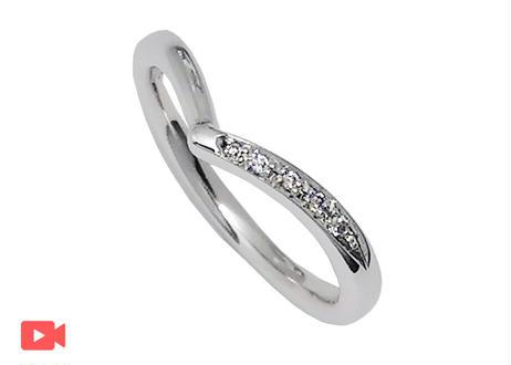 【単品】 ハート指輪 -チムグクル-(1MOBR-11L)プラチナ(pt950)石留あり