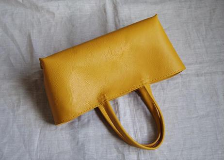 【受注生産】しっかり横長トートバッグ(黄色・L)