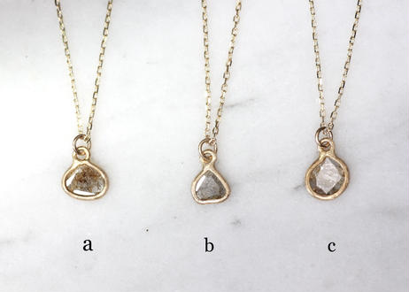 slice diamond +K10ネックレス