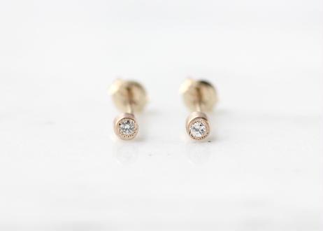 diamond +K10ピアス