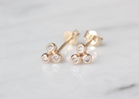 diamond+K10ピアス