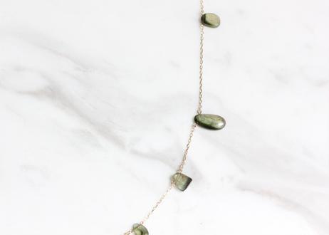 Tourmaline+K10ネックレス(green)
