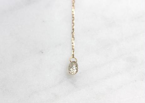 Brioletto cut diamond+K10ピアス