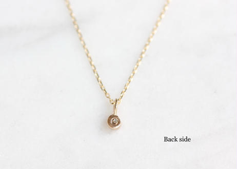 rose cut diamond+ K10ネックレス