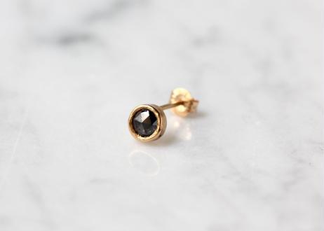 black rose cut diamond+K10ピアス