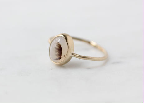agate+K10リング