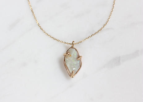 Rough cut opal+k10ネックレス