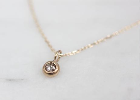 rose cut diamond+K10ネックレス