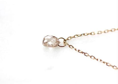 Brioletto cut diamond+K10ネックレス
