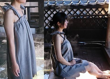 女性用湯浴み着グレー(中国製)ワンピースタイプ