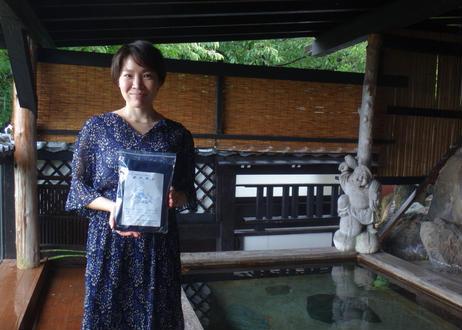 男性用湯浴み着ブルー(日本製・女性も上下セットで利用可)トランクスタイプ