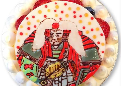戦国肖像画ケーキ(明智、徳川、織田、伊達、豊臣、石田他)
