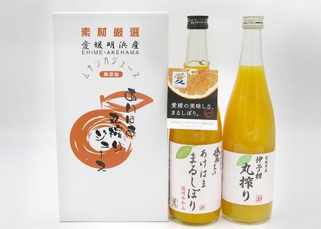 あけはま丸搾りジュース(うんしゅうみかん・伊予柑各1本) 720ml×2本